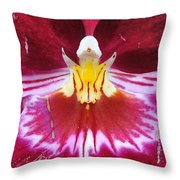 Orchid Pink Yellow White Throw Pillow