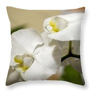 Orchid Purity Throw Pillow