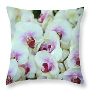 Orchid Sea Throw Pillow