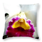 Orchid Series 2 Throw Pillow