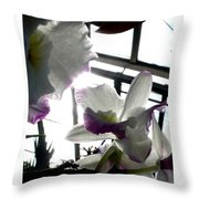 Orchid Series 4 Throw Pillow