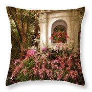Orchid Show Throw Pillow