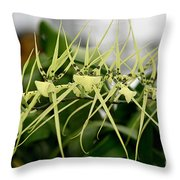 Orchid Spikes Throw Pillow