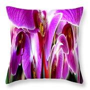 Orchid Splat Throw Pillow