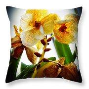 Orchid Vignette Throw Pillow