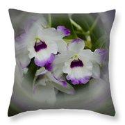 Orchid Wine Swirl Throw Pillow