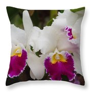 Orchids 198 Throw Pillow