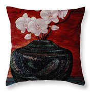 Orchids And Passion Throw Pillow