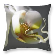 Orchid's Face Throw Pillow