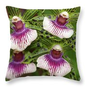 Orchids Four Throw Pillow