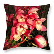 Orchids Galore Throw Pillow