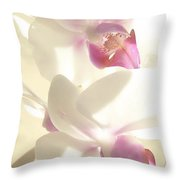 Orchid's Glow Throw Pillow