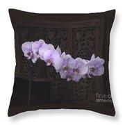 Orchids Loretta Throw Pillow