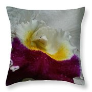 Orchid's Royal Carpet Throw Pillow