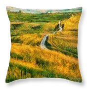 Orcia Valley Throw Pillow
