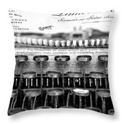 Ordering Cheese Bw Throw Pillow