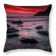Oregon Afterglow Throw Pillow