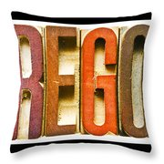 Oregon Antique Letterpress Printing Blocks Throw Pillow