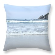 Oregon Beach Throw Pillow
