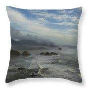Oregon Coast Ecola 1 F Throw Pillow