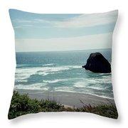 Oregon Coast Ghost Surfer Throw Pillow
