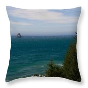 Oregon Coast II Throw Pillow