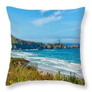 Oregon Coast Lighthouse Throw Pillow