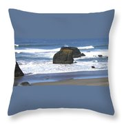 Oregon Coast Panorama Throw Pillow