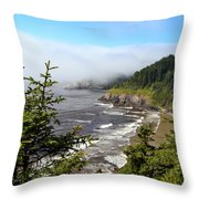 Oregon Coastline Throw Pillow