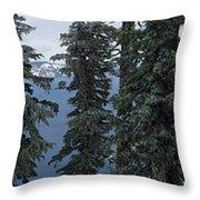 Oregon Crater Lake Panoramic Throw Pillow