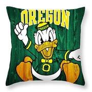Oregon Ducks Barn Door Throw Pillow