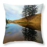 Oregon Dunes Pond Throw Pillow