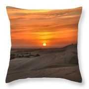 Oregon Dunes Sunset Throw Pillow