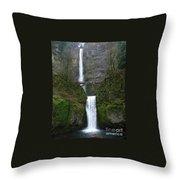 Oregon Long Shot Of  Falls Throw Pillow