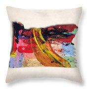 Oregon Map Art - Painted Map Of Oregon Throw Pillow