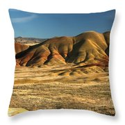 Oregon Painted Landscape Throw Pillow