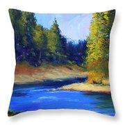 Oregon River Landscape Throw Pillow