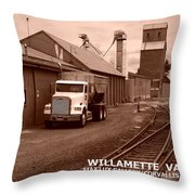 Oregon's Willamette Valley  Throw Pillow