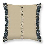 O'reilly Written In Ogham Throw Pillow