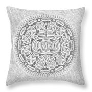 Oreo In Grey Throw Pillow by Rob Hans