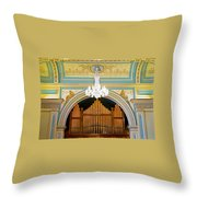 Organ And Ceiling Throw Pillow
