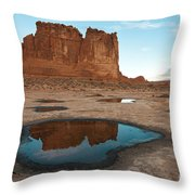 Organ Formation, Arches National Park Throw Pillow