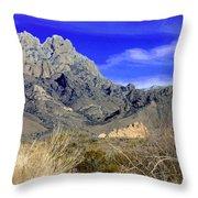 Organ Mountain Frosty Top Throw Pillow