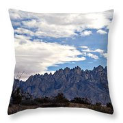 Organ Mountain Landscape Throw Pillow