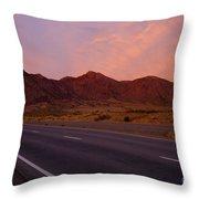 Organ Mountain Sunrise Highway Throw Pillow
