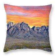 Organ Mountain Sunrise Most Viewed  Throw Pillow