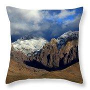 Organ Mountains Rugged Beauty Throw Pillow