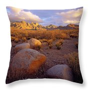 Organ Mountains Sunset Throw Pillow