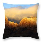 Organ Mountains Symphony Of Light Throw Pillow by Bob Christopher