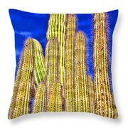 Organ Pipe Cactus Arizona By Diana Sainz Throw Pillow